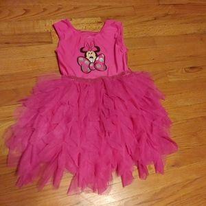 Size 5T Hot pink Minnie Mouse Tutu